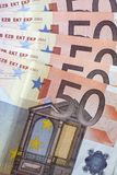 Money - 50 euro banknotes Stock Image