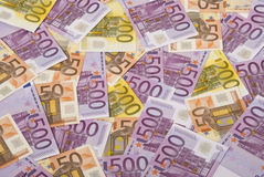 Money. Lot of euro banknote as background Royalty Free Stock Photo