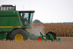 Money. Green tractor Stock Image