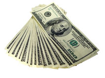 Money. US money - 100 US dollar banknote royalty free stock photography