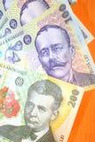 Money. The finance-the romanian money Stock Photos