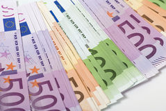 Money. Lot of paper money euro banknotes Stock Images