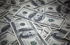 Money. Closeup image of money , lots of 100 US dollar bills Royalty Free Stock Images
