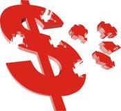 Money. 3d money symbol in red color stock illustration
