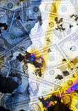Money. Photo composition of dollar banknotes Stock Images