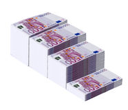 Money. Stack of eur money isolated closeup shoot Royalty Free Stock Photos
