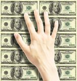 Money. Hand Over Money Royalty Free Stock Images