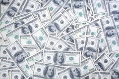 Money. Big pile of money. stack of american dollars Stock Photos