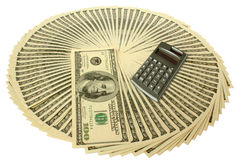 Money. Big pile of money. stack of american dollars Stock Images