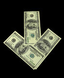 Money. Denominations, dollars (isolated on  background with clipping path Stock Images