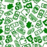 Money abundance and savings seamless pattern Royalty Free Stock Image