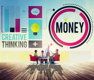 Money Accounting Banking Economy Exchange Wealth Concept Stock Image