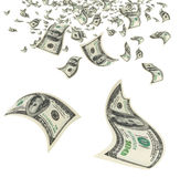 Money in the air. Royalty Free Stock Photography