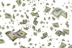 Money in the air. Stock Images