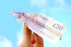 Money airplane Royalty Free Stock Photography