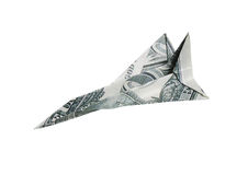 Money airplane Royalty Free Stock Photos