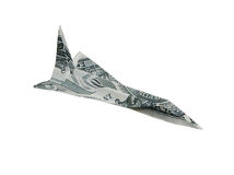 Money airplane Stock Photography