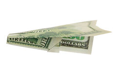Money airplane royalty free stock images