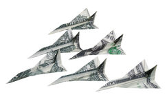 Money airplanes Royalty Free Stock Photography