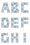 Money alphabet Stock Images