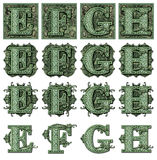 Money Alphabet E to H Royalty Free Stock Photo