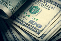 Money american bills. The money american hundred dollar bills Royalty Free Stock Photo