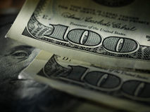 Money american hundred dollar bills stock photos