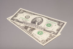 Money American One and Two dollar bills Stock Photography