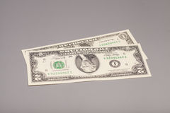 Money American One and Two dollar bills Royalty Free Stock Images