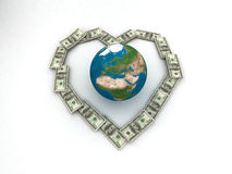 Money And Earth Royalty Free Stock Photos