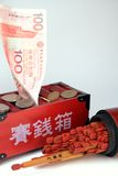 Money And Fortune Sticks Royalty Free Stock Photography