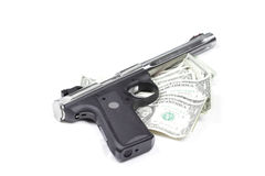 Money And Guns. Royalty Free Stock Image