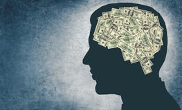 Money And Your Brain Royalty Free Stock Photography