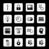 Money app icon set. Vector Royalty Free Stock Photo