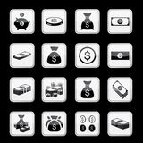 Money app icon set. Vector Stock Image