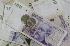 Money from Argentina. Argentinian Peso, currency of Argentina Royalty Free Stock Photo