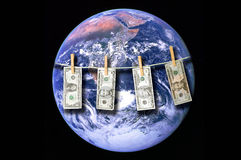 Money around the world Stock Photo