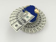 Money around the world. Business, economy, trade and services Royalty Free Illustration