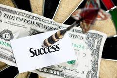 Money arrow dart Stock Image