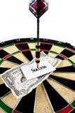Money arrow dart Royalty Free Stock Photo