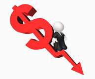 Money arrow icon target Stock Photos