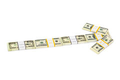 Money arrow Stock Image