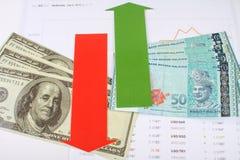 Money with arrow Royalty Free Stock Photo