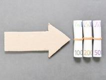 Money arrow Stock Images