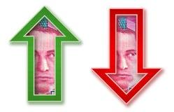 Money Arrows Stock Photography