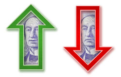 Money Arrows Royalty Free Stock Image