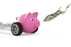 Money as bait concept Stock Image