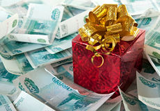 Money as a gift. Stock Photos