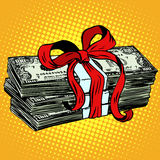 Money as a gift charity and donation Stock Photography