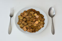 Money as raw food. Royalty Free Stock Photography